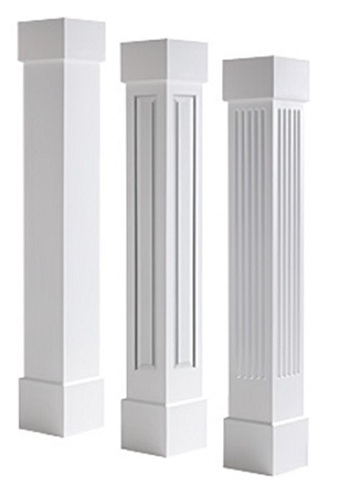 square custom mdf and pvc columns